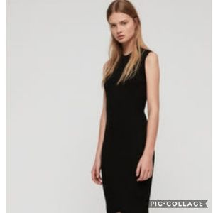 All Saints black bodycon dress
